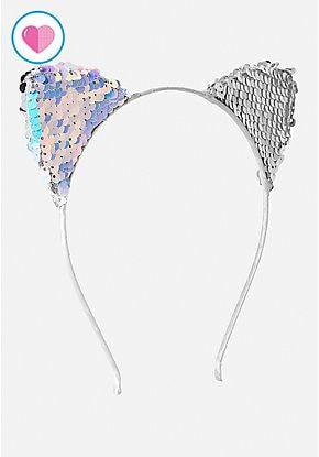Sale Sequins Mermaid Bow Headband For Women Kids Girl Cute Cat Ear Hairband Bling Hair Band Headwrap Hair Accessories Mother & Kids