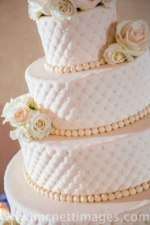 Wedding Cake – Meghan and Dave's 4 Tier Fondant Quilted Wedding Cake » Granny Schmidt's Bake Shop