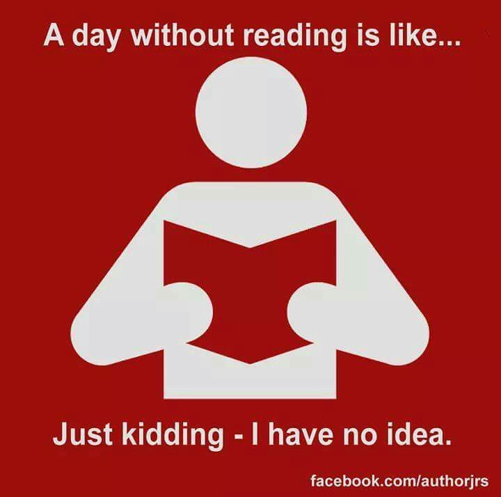 Repin if you can't go a day without reading! #readinghumor http://writersrelief.com/