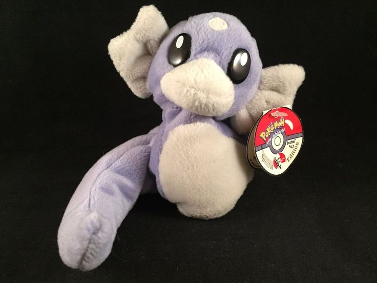"1998 With Tags Pokemon 5"" Beanie Plush #147 DRATINI KFC Special Edition"