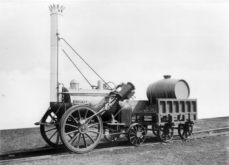 The rocket (train) - one of the very first trains ever to run on own power, was the beginning of the stream train. Invented by Richard Trevithick in 1804