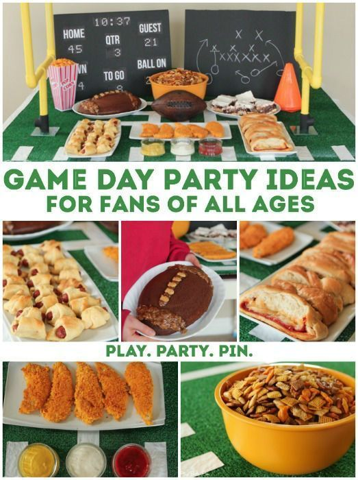 Decorate your game day party like a pro with these easy #GameDay party ideas.