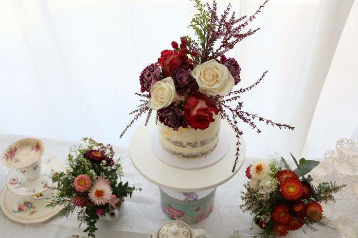Wild flower cake. Baby shower tea party