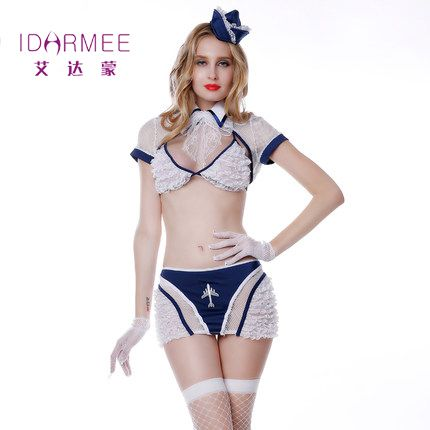 ==> [Free Shipping] Buy Best IDARMEE TOP Grade Sexy Flight Attendant Costume Air Hostess Outfits Sexy Airline Stewardess Costumes S9073 Online with LOWEST Price | 32765154235