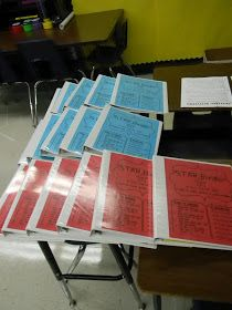 Waiting to be assembled...   Earlier in the summer I mentioned that I was going to have each student use a 3 ring binder this year. It is ...