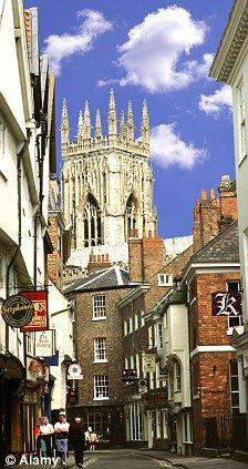 The historic city of York, England