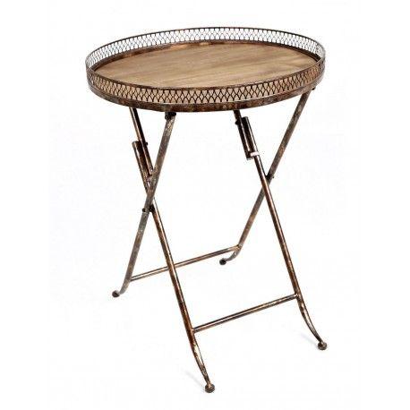 mesa auxiliar redonda plegable