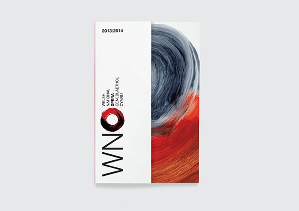 Welsh National Opera identity by Hat-Trick Design
