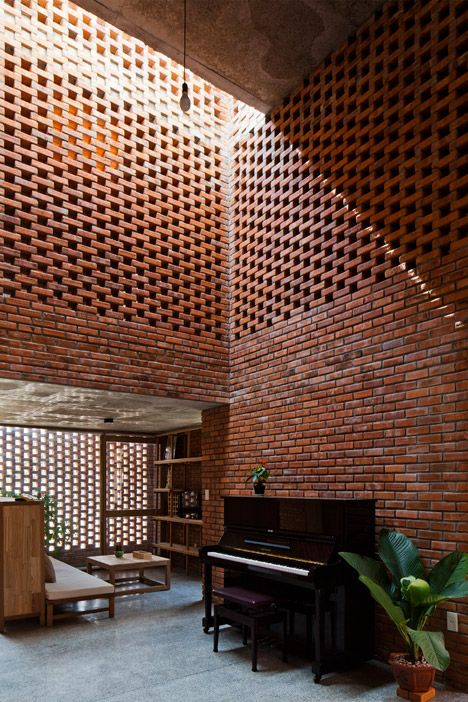 "Perforated brick house by Tropical Space is based on termites' nests. ❥""Hobby&Decor"" 