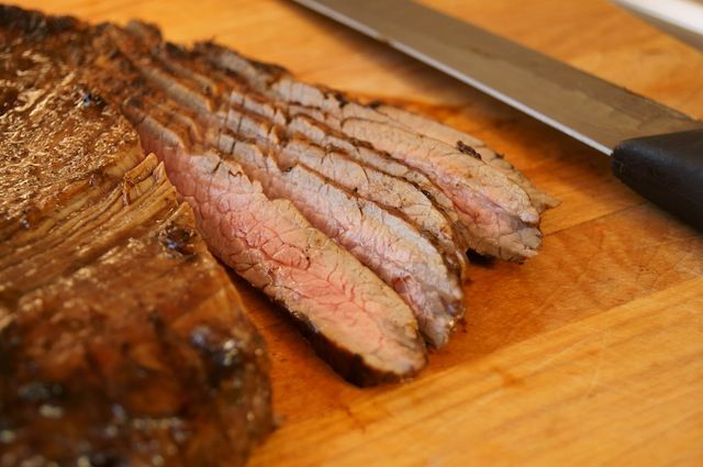 Grilled Coffee Balsamic Flank Steak | Cooking On The Weekends