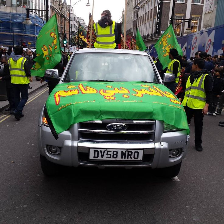 #Ashura#kombizz #Muharram1438 #London #UK #marblearch #imamhussain #procession #islam  #car #ford