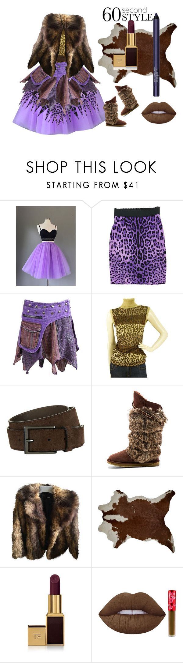 """""""Amazon girl. Asymetric skirt"""" by byasha ❤ liked on Polyvore featuring Dolce&Gabbana, BOSS Hugo Boss, Australia Luxe Collective, ASOS, Tom Ford, Lime Crime, Smashbox, asymmetricskirts and 60secondstyle"""
