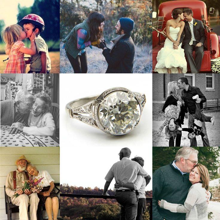 Pierścionek z diamentem, pocz. XX w. platyna pr. 0,950, grawerowana, 1 diament ~ 3,95 ct K/Si1, 4 diamenty w szlifach 8/8 ł. ~ 0,04 ct, 4 rozety diamentowe, masa: 4,05 g; rozmiar 13* #couple #love