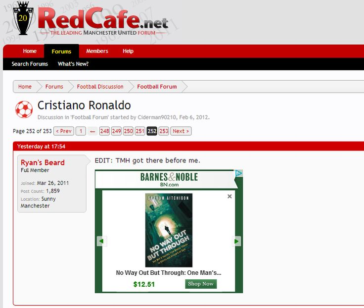 So cool seeing an advert for my book on Red Cafe - a Manchester United forum!!