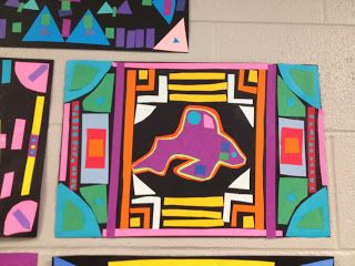 The Teacher with a Ponytail: Holy Mola! 3rd Grade Mola Hallway Display!