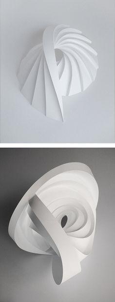 Folded Paper Sculptures by Matt Shlian | Inspiration Grid | Design Inspiration                                                                                                                                                                                 More