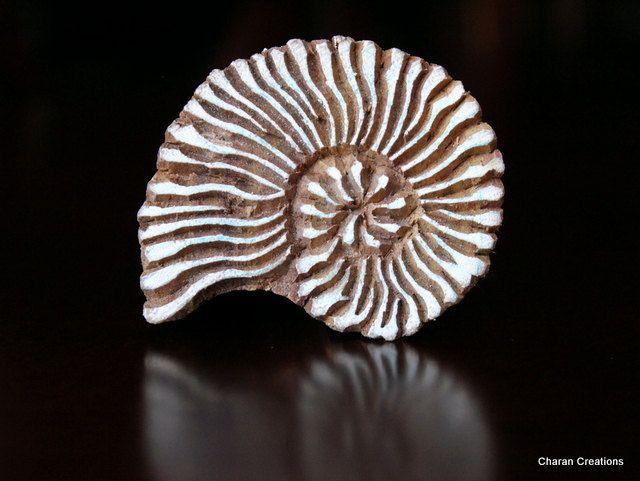 India textil madera estampilla bloque concha por charancreations