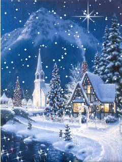 A Christmas Dream, in blue.