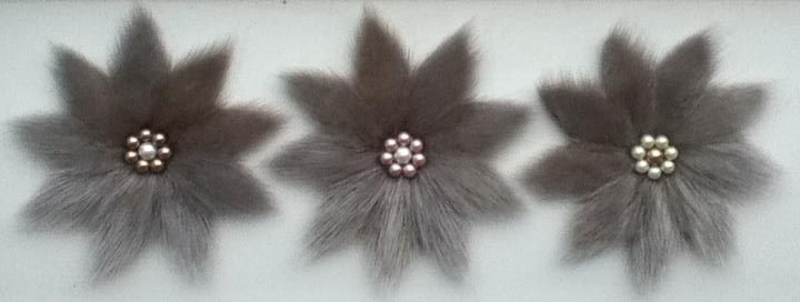 Inuit made sealskin flowers by Christine Gordon-Tootoo