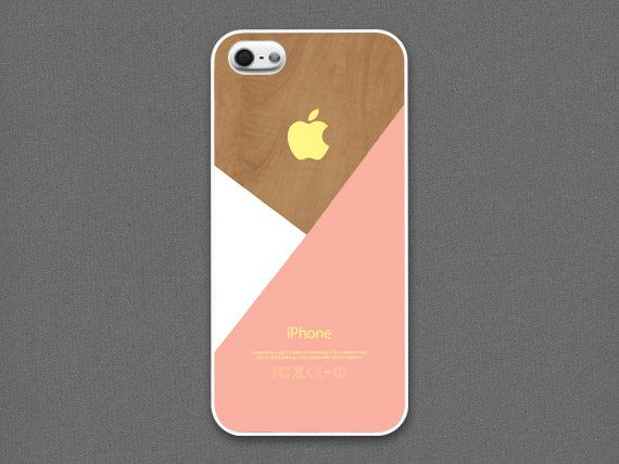 iPhone 5 / 5s Case  Pastel peach layered on wood by evoncase, $15.00