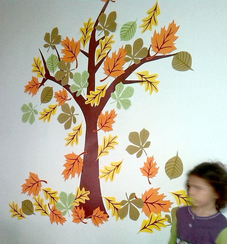 Decoracion infantil de oto o hojas de cartulina for Decoraciones para hojas