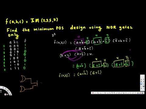 Design using NOR gates only - Digital Logic Design I