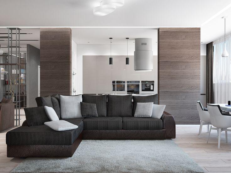 Стильная квартира студия от дизайнера Татьяны Зайцевой