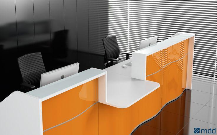 #Banques-d'accueil - wave | #MDD | mobilier de bureau | meubles de bureau | meubles de #bureau