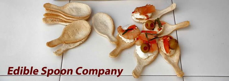 Make edible spoons out of bread it 39 s a great idea for Edible canape spoons
