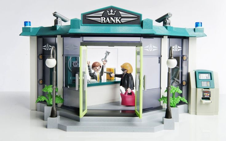 A bank robbery toy set aimed at children aged from four to ten has been heavily criticised. The Playmobil 'Bank and Safe' pack comes with everything needed to simulate a bank robbery, including armed bank robbers and a safe full of gold. The set from the German manufacturer, on sale for around £35, features a blonde assailant who wears dark sunglasses to shield her identity.