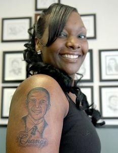 Mind-blowing Donald Trump Tattoo on Shoulder