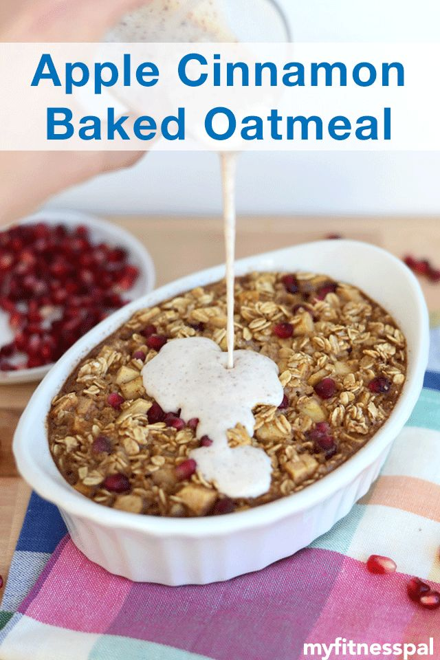 ... breakfast with this apple cinnamon baked oatmeal from @FitFoodieFinds