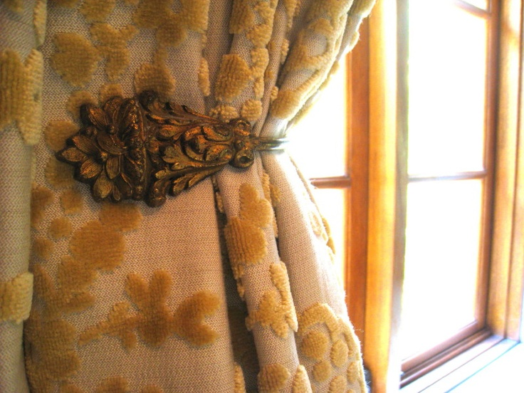 french antique curtain tie backs featured in the master bedroom    (similar available from my online store www.bestowedcollections.com.au)