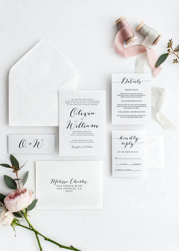 These Minimalist Wedding Invitations Are Totally Winning S Izobrazheniyami Dizajn Priglashenij Svadba Dizajn