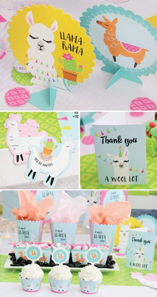 Llama Baby Shower Thank You And Decors Baby Shower Llama Theme In