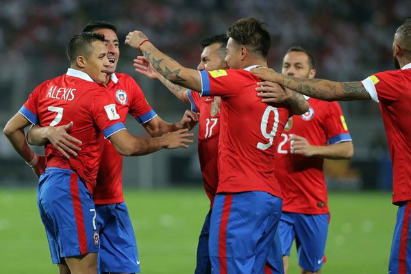 La selección de fútbol de Chile