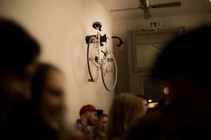 D-Rack by Parax in Herman's Bar, Berlin  #bike  #rack #bikerack #paraxgermany #parax #Fahrrad #zubehör #wandhalterung #Halterung #Fahrradhalter #kebony #cycling #roadbike #wall #design #olivewood #berlin #kickstarter #startup #drack #bikepassion #bikerack #bikehanger #bikelove  #bikepassion #bikerack #bikelive #bikestorage #bikestyle #ilovemybike #cyclinglife #bikeshelf #bikeholder #bikehanger #bikeart #roadbike #bicycle #bikeride #bici #parax_germany #interiordesign #Einrichtung #fixie
