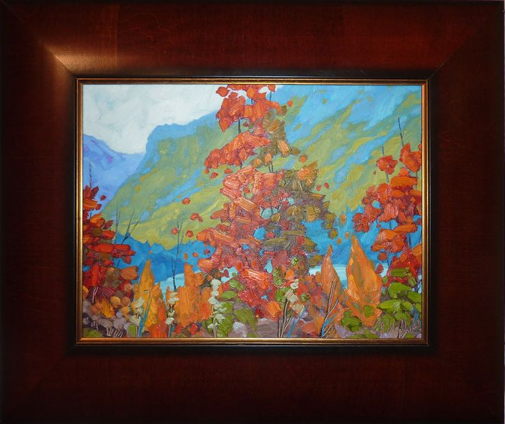 "Dominik Modlinski Original ""Beauty of Quebec"" Framed oil painting.  Dimension 12""x16"""
