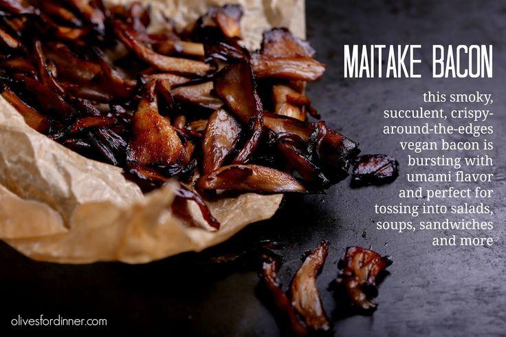 Olives for Dinner | Recipes for the Ethical Vegan: Maitake Bacon