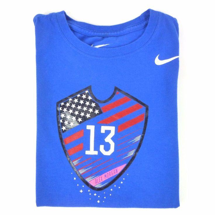 Womens Nike Alex Morgan Soccer T Shirt Sz S America EUC Sports Athletic Blue #Nike #ShirtsTops