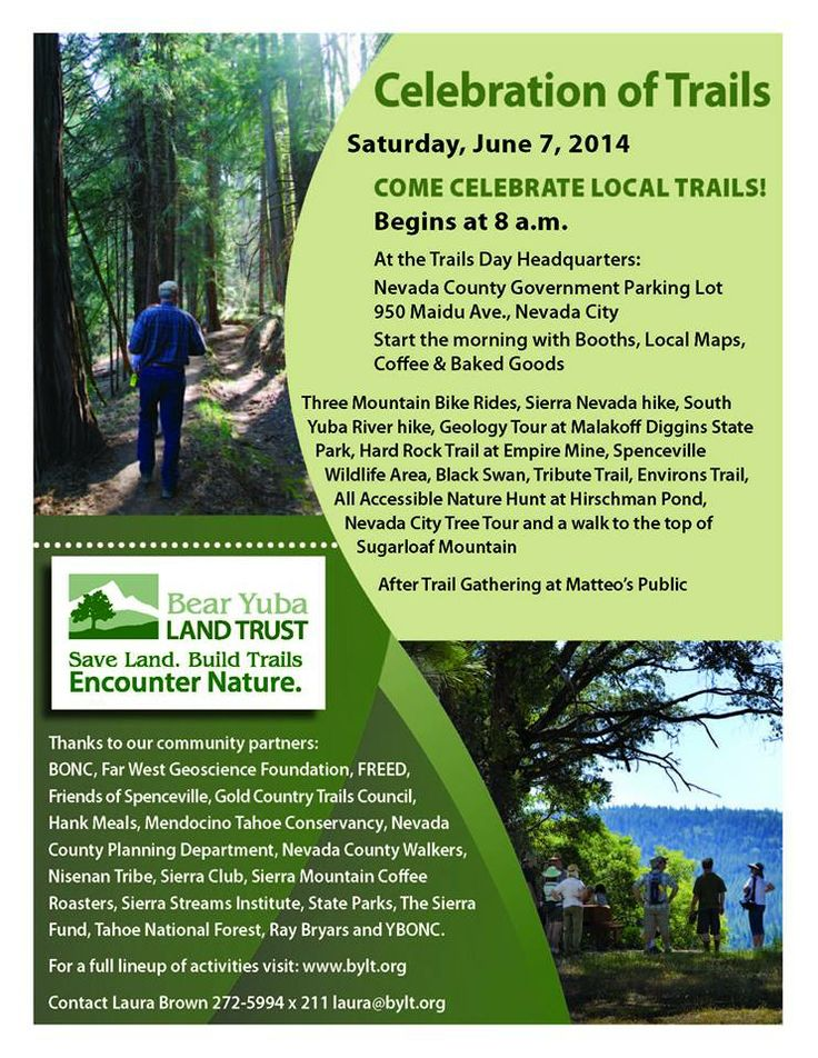 Celebrations of Trails, Saturday, June 7th, starting at ...
