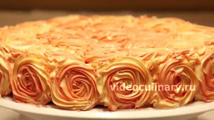 Рецепт - Простой способ украшения тортов от http://videoculinary.ru
