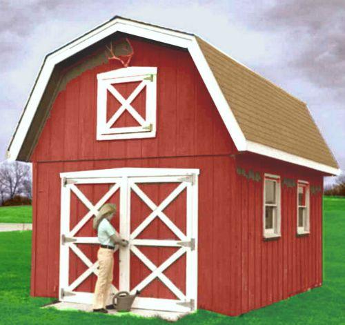 21 best garden sheds images on pinterest garden houses for Red barn plans