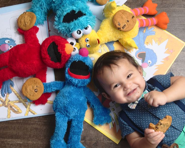 Sesame Street Birthday Photo - Cookies with Friends
