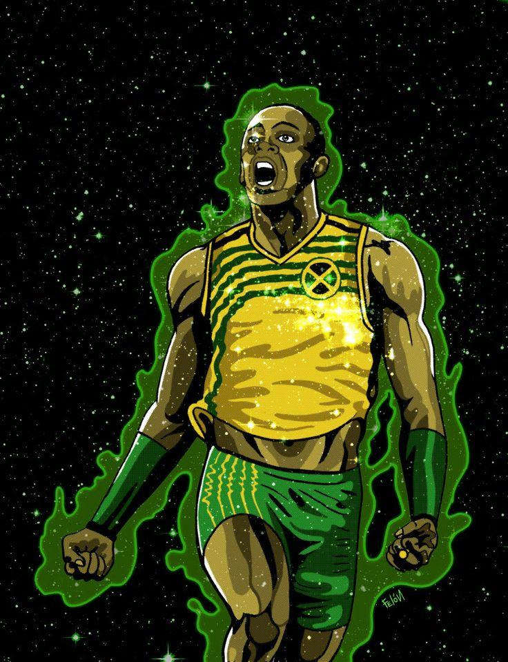 Ussain Bolt por Felipe Raveau