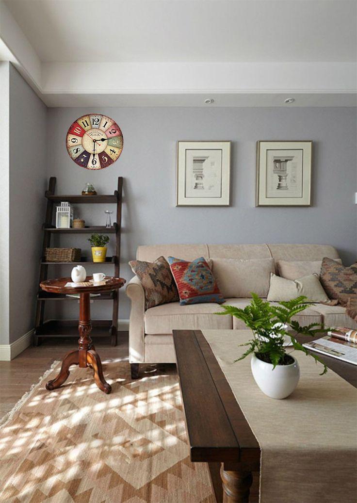 Die besten 25+ große, rustikale Wanduhr Ideen auf Pinterest - grose wohnzimmer uhren