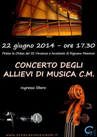concerto finale degli allievi CM,  22 giugno 2014