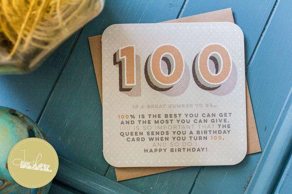 Funny 100th Birthday Card / 100th birthday / 100 birthday / grandma birthday / grandpa birthday