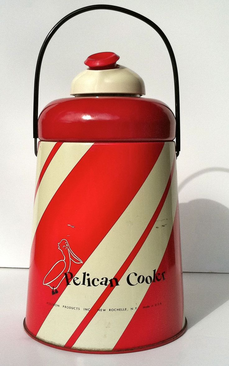 Vintage Red and White Pelican Cooler. $22.00, via Etsy.