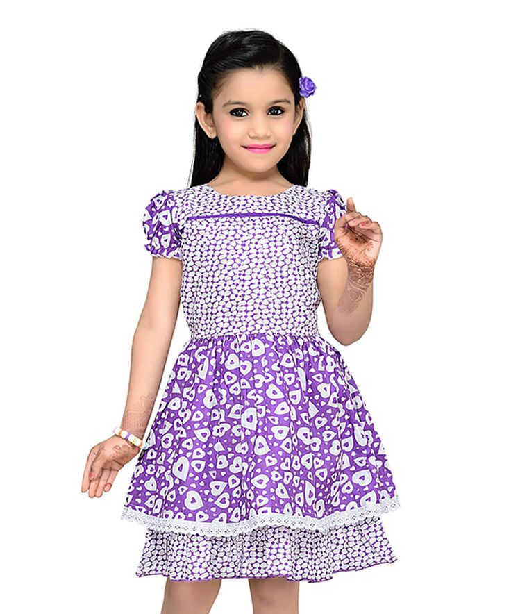 Purple Hearts Layered A-Line Dress - Toddler & Girls by Sam de Fleur #zulily #zulilyfinds